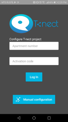 T-nect mobile app